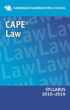 CAPE® Law Syllabus 2010–2019 eBook